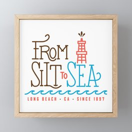 From Silt to Sea | Long Beach California Tribute | From Oil Workers to Surfers Framed Mini Art Print