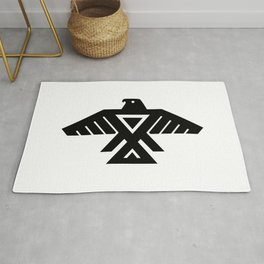 Native American Thunderbird Symbol Flag Rug