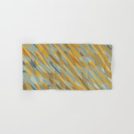 yellow blue and brown abstract background Hand & Bath Towel