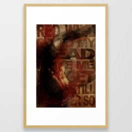 Addiction is the new Religion #1 Drink your brain Framed Art Print