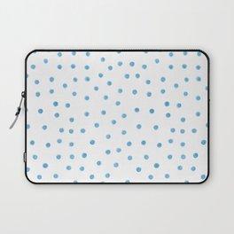 Pastel Blue Polka Dots Laptop Sleeve