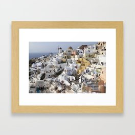 Windmills of Oia Framed Art Print
