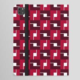 Geometric Pattern #257 (red boxes) iPad Folio Case