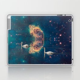 THE SWANS AND THE COSMOS Laptop & iPad Skin