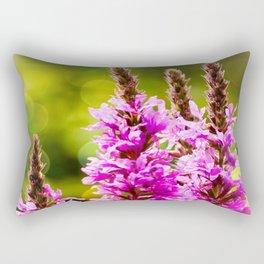 Purple Loosestrife Rectangular Pillow