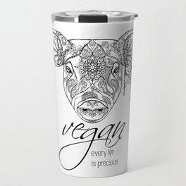 Every life is precious - pig Travel Mug