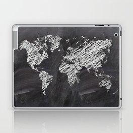Scribble world map on chalkboard Laptop & iPad Skin
