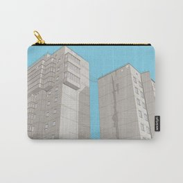 Cityscapes 1 – blue Carry-All Pouch