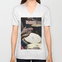 playing bongos Unisex V-Neck