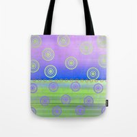 circles Tote Bags featuring Circles by Fine Art by Rina