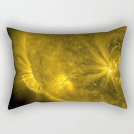 Solar Flares & Explosions on the Surface of the Sun captured by NASA telescopes color photography Rectangular Pillow