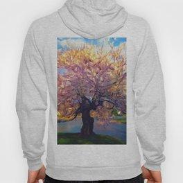 Blooming Tree Impressionist Painting Hoody