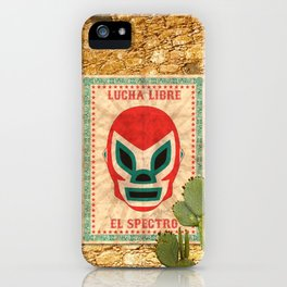 El Spectro - Lucha Libre iPhone Case