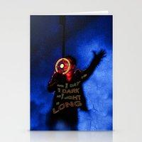u2 Stationery Cards featuring U2 / Bono / Baby Light My Way by JR van Kampen