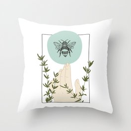Bee Solstice Throw Pillow