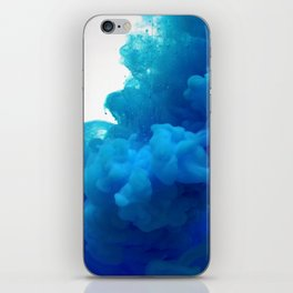 blue cloud iPhone Skin