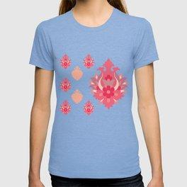 Shah-Abbasi Flower Pattern (Pink) T-shirt