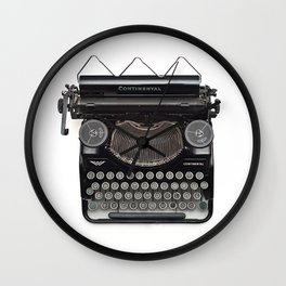 Continental Type writer Wall Clock