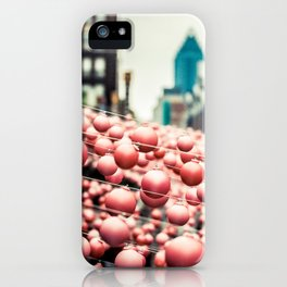 Pink In The Village iPhone Case