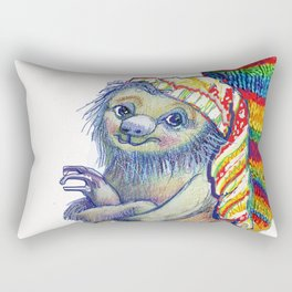 Sloth in a Sock Rectangular Pillow