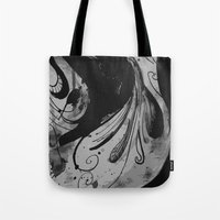 reassurance Tote Bags featuring Ink II by Magdalena Hristova