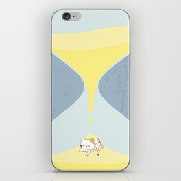Cat In The Sand Clock iPhone Skin