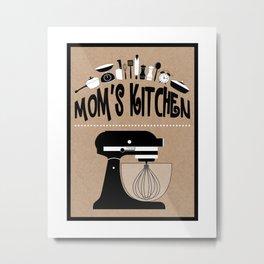 "Kraft Paper Style ""Mom's Kitchen"" Baking Print Metal Print"