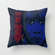 Angry Black Woman Throw Pillow