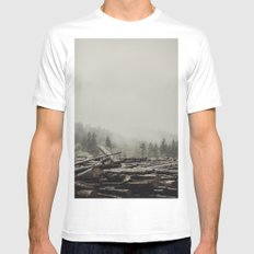 Logs White Mens Fitted Tee MEDIUM