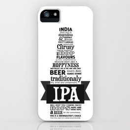 A beer is worth a thousand words - IPA iPhone Case