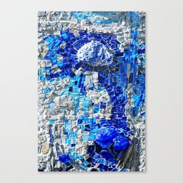 dot random mosaic Canvas Print
