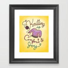 Knitting is Comfort and Joy Framed Art Print