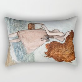 She and the sea Rectangular Pillow