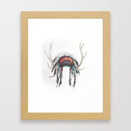 Antler Headdress Framed Art Print
