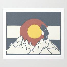 Colorado, the Big Blue Bear and the Rockies Art Print