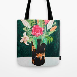 Tiger Vase Tote Bag