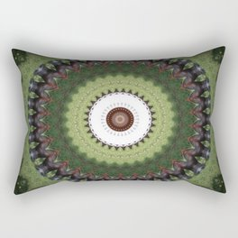 Brown cow kaleidoscope #20 Rectangular Pillow