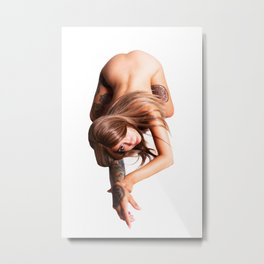 Cat Crawl Metal Print