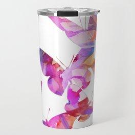 Pink Butterflies Travel Mug