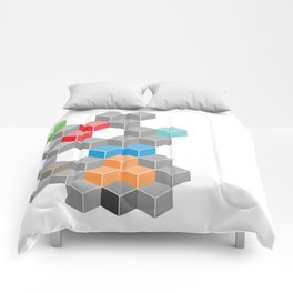 Isometric confusion Comforters