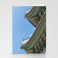 korea Stationery Cards featuring Gyeongbokgung Palace Lines_South Korea by Jennifer Stinson