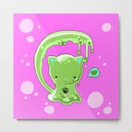 Monster Slime-Kitty Metal Print