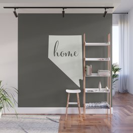 Nevada is Home - White on Charcoal Wall Mural