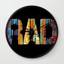 Rad Conscious (Black Background) Wall Clock