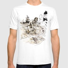 Out of the Sea of Red Mens Fitted Tee White MEDIUM