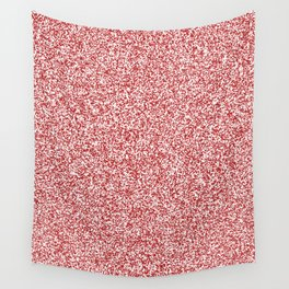 Spacey Melange - White and Firebrick Red Wall Tapestry