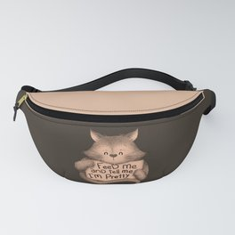 Feed Me And Tell Me I'm Pretty Cat Brown Fanny Pack