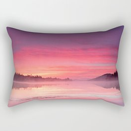 Beautiful Bright Colorful Sunrise Over Lake in The Boundary Waters Rectangular Pillow