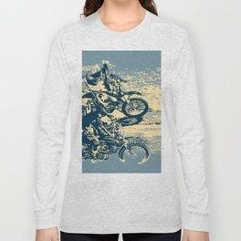 Dirt Track - Motocross Racing Long Sleeve T-shirt