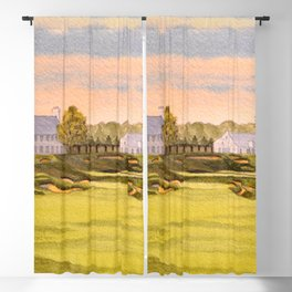 Whistling Straits Golf Course 9th And 18th Blackout Curtain